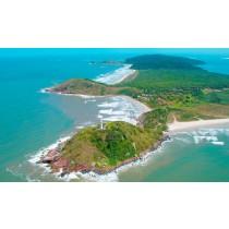 Vista aérea Ilha do Mel
